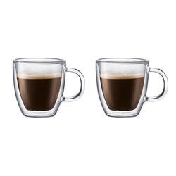 BISTRO 2 pcs mug, double wall, 0.3 l, 10 oz, Transparent