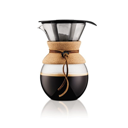POUR OVER Coffee maker with permanent filter, 1.0 l, 34 oz, Cork