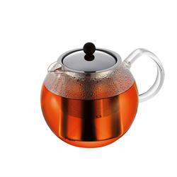 ASSAM Tea press with s/s filter, 1.0 l, 34 oz, Black